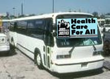 Charter bus for health care reform