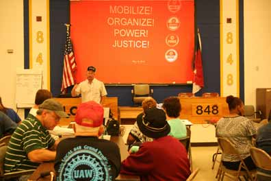 Meeting at UAW 848