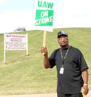 Picketer at Bell Helicopter 6/20/09