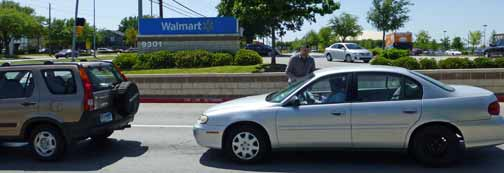 walmart workers leafletted cars